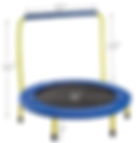 ANCHEER Kids Trampoline with Safely Handrail,36'' Outdoor Mini Toddler Rebounder Trampoline,Indoor Small Trampoline for Kids,Safe & Portable & Foldable & Durable for Kid Exercise & Play. (Blue)