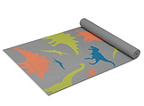 Gaiam Kids Yoga Mat Exercise Mat, Yoga for Kids with Fun Prints - Playtime for Babies, Active & Calm Toddlers and Young Children, Dino Zone, 3mm