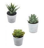Desk Trio Artificial Plants