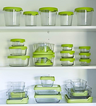 Anchor Glass Food Storage Green Sealed Lid