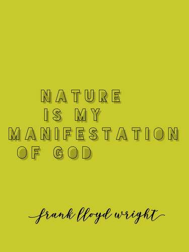 nature frank llyod wright