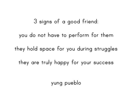 3 Signs of a Good Friend