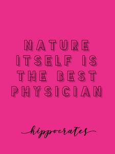 nature quote typographic