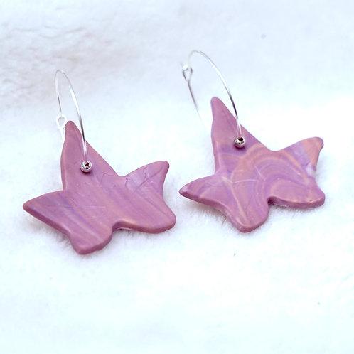 Lilac Leaf Hoops