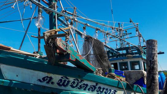 Squid Fishing Boat