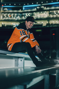 Chris on Oilers Bench