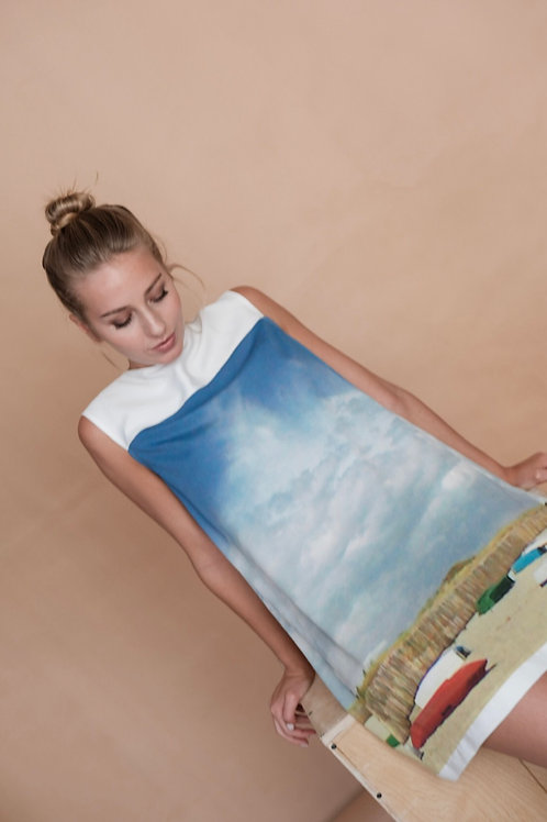 Платье с пезажем