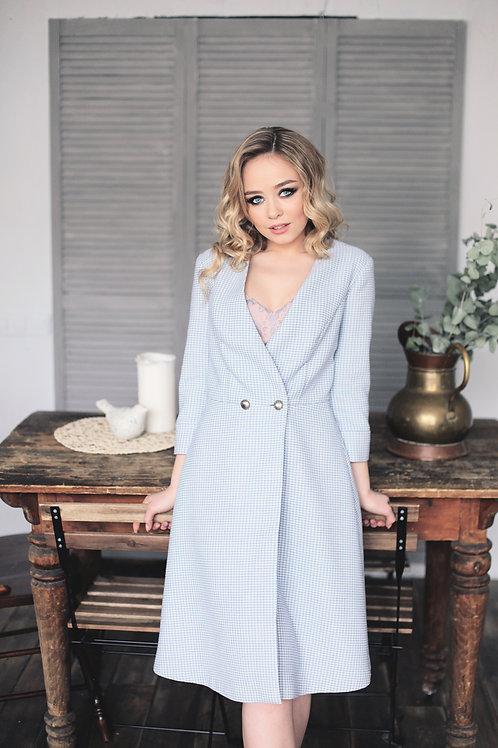 Платье-пальто гусиная лапка
