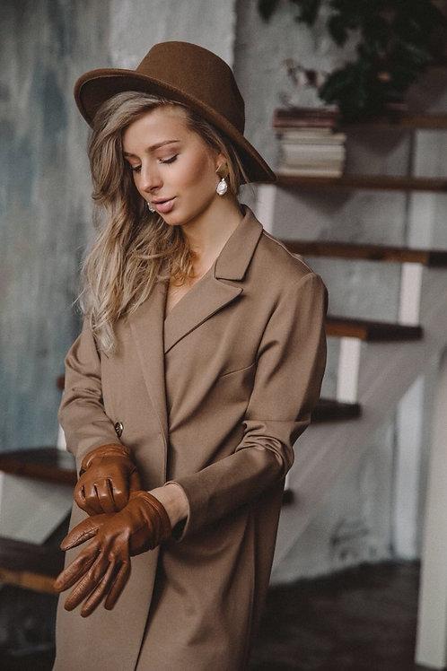 Платье-жакет цвета кофе