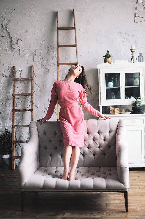 Платье из бархата на шелковой основе