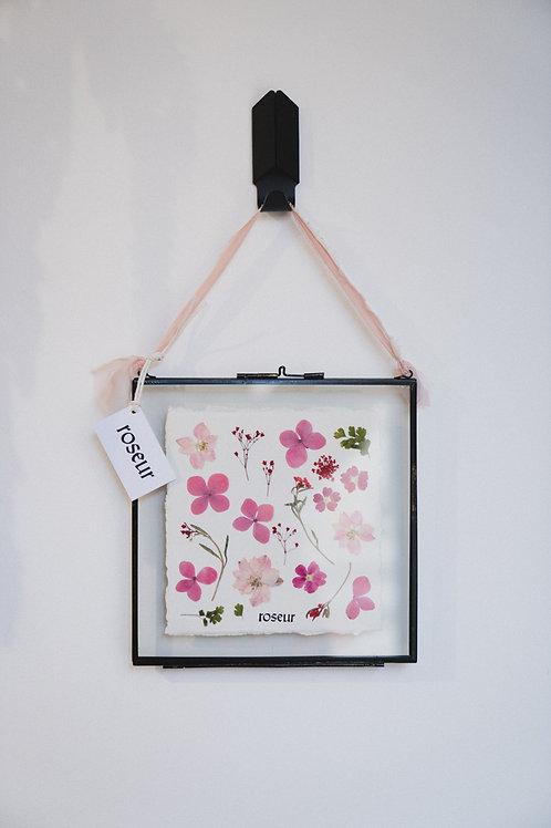 Pressed Flower Frame - pink forest (medium)