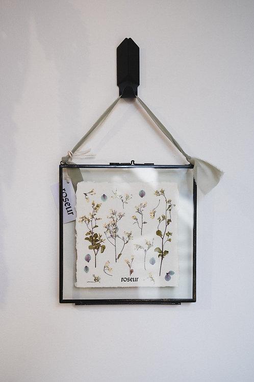 Pressed Flower Frame - blue forest (medium)