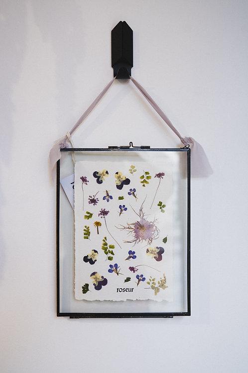 Pressed Flower Frame - violet serenity (large)