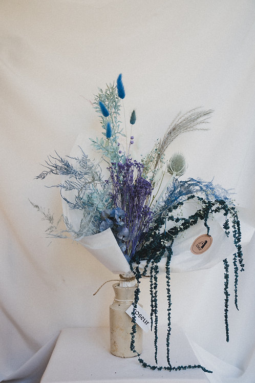 Dried flower bouquet (Blue)