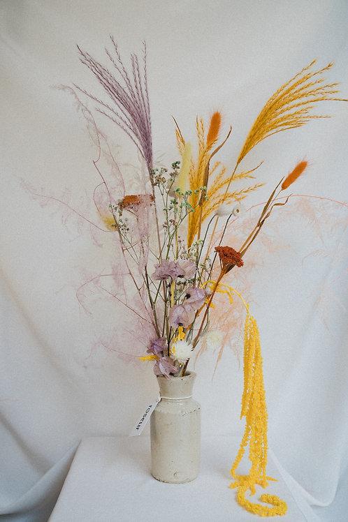 Dried flower bouquet (yellow+orange)