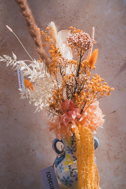 Dusty pink & Orange bouquet (m/l)