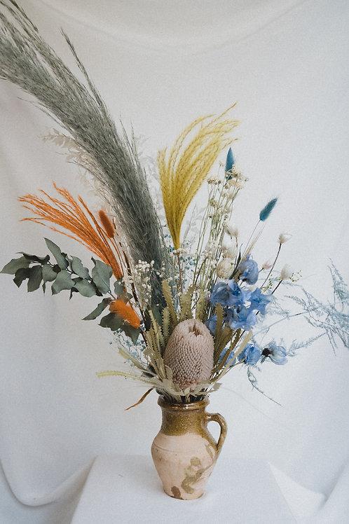 Misty blue dried flower bouquet (medium)