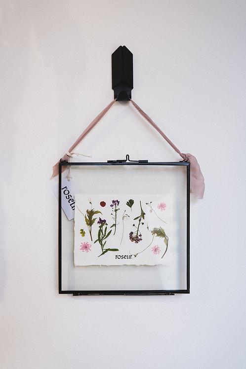 Pressed Flower Frame - floating blooms 2