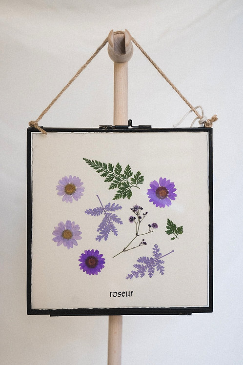 Pressed Flower Frame - purple tide (medium)