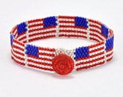 Peyote Flag Bracelet