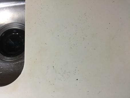 キッチンカウンターの傷補修