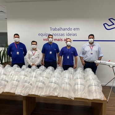 Centro de Manutenção da LATAM entrega primeiro lote de protetores faciais contra COVID