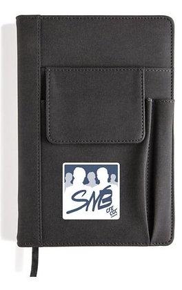 Carnet avec pochette pour téléphone avec logo snb marine