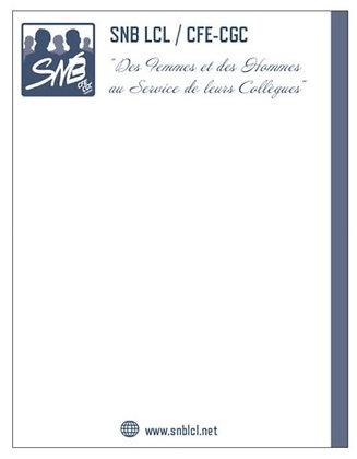 Bloc-notes personnalisé logo SNB marine