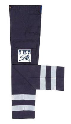 Pantalon unisex avec bandes réfléchissantes aux jambes, logo SNB