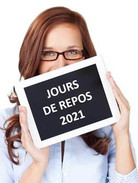 MA FICHE PRATIQUE : Jours de fermeture 2021
