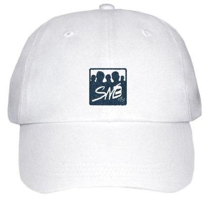 Casquette blanche, logo SNB brodé marine