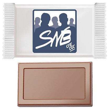 Barre chocolatée MINI de 5 g, lot de 500 pièces logo SNB