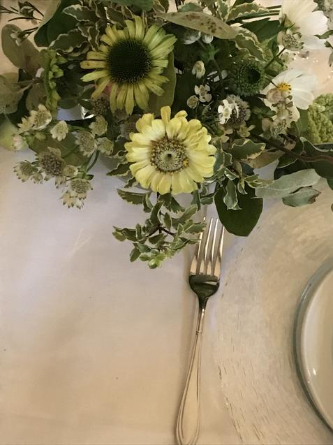 Wedding table setting, 2020