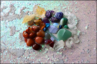 Colorful chakral stones for reiki and ba