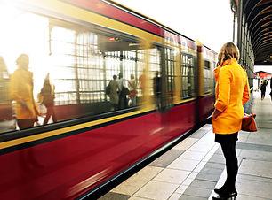Warten auf die U-Bahn