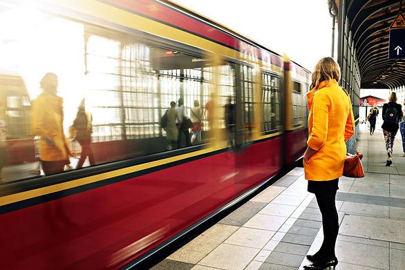 Esperando el metro