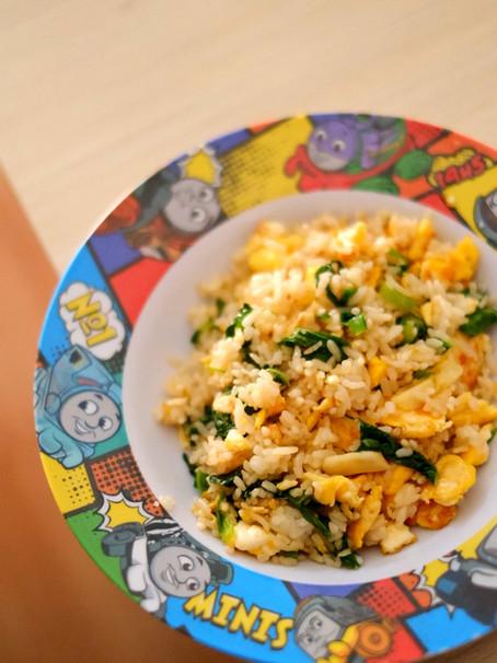 Spinach Butter Fried Rice: Menu Sarapan Sehat & Cepat untuk Toddler