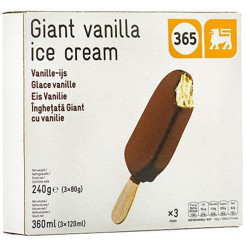 365 Giant Vanilla Ice Cream 6x120ml