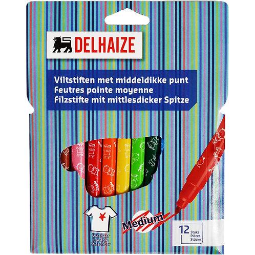 Delhaize Carioci Colorate - 12buc