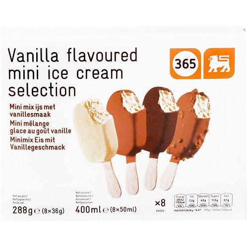 365 Vanilla Flavoured Mini Ice Cream Selection 8x50ml