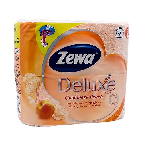 Hartie igienica Deluxe piersica - Zewa -  4 role 3 straturi