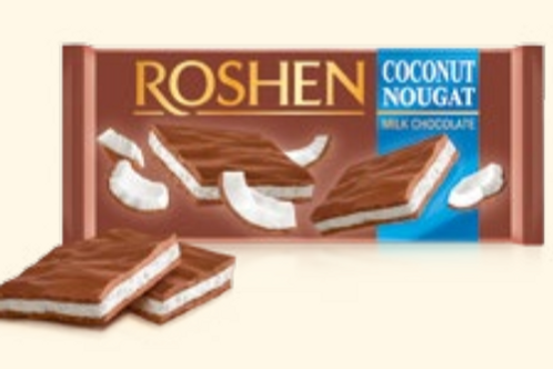 Roshen Ciocolata Coconut Nougat - 90g