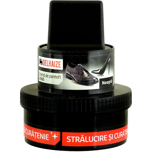 Crema pantofi solida neagra - DLL - 50ml