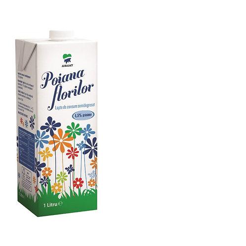 Lapte de consum 1.5% - POIANA FLORILOR - 1L