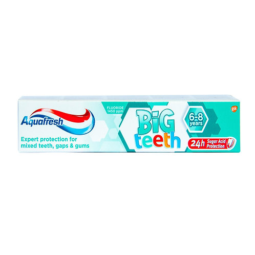 Aquafresh Big Teeth 6-8 ani - 50ml