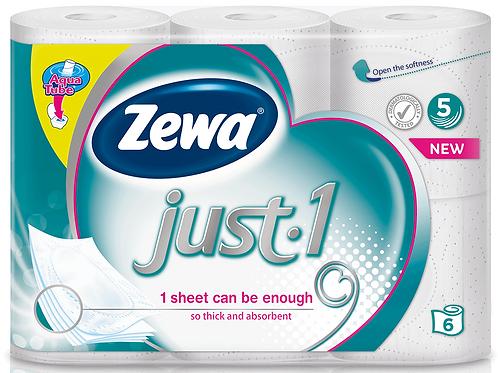 Zewa Just Hartie Igenica 6 Role 5 Straturi