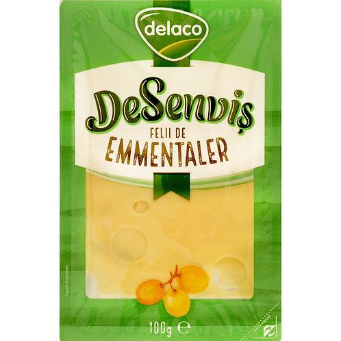 DeSenvis Emmentaler felii - Delaco  - 100g
