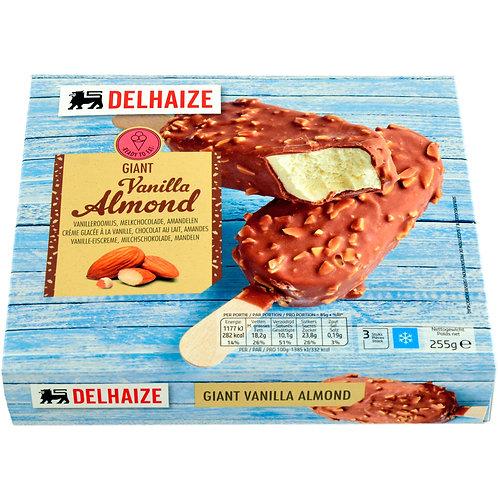 Delhaize Inghetata Vanilie Migdale 3x120ml