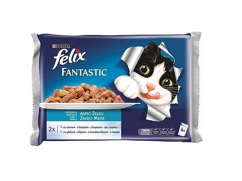 Felix - Hrana pentru pisici cu Somon - 4x100g