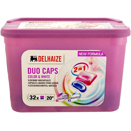 Delhaize Detergent Lichid Capsule Duo 32*25g